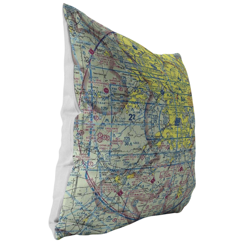 Image of Throw Pillow | Atlanta, Georgia VFR Sectional