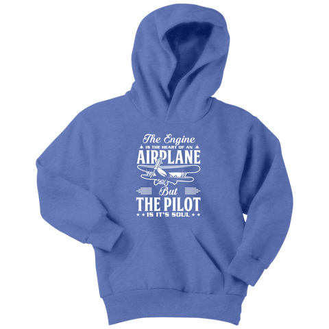 The Pilot is it's Soul - EightOut Apparel Youth Hoodie