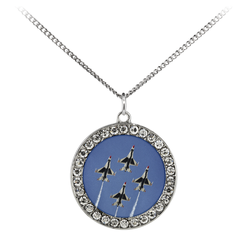 Thunderbirds Stone Coin Necklace