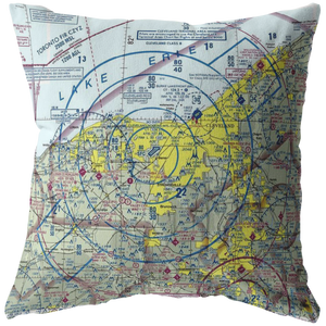 Throw Pillow |  Cleveland, Ohio VFR Sectional