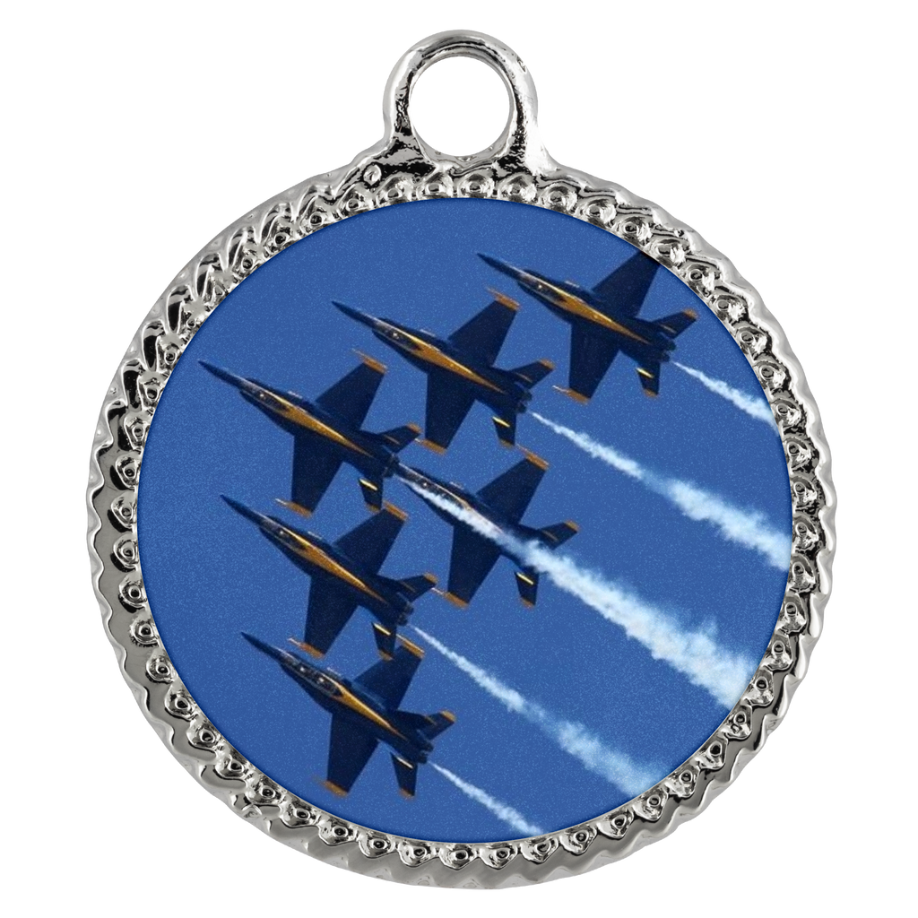 Blue Angels Deco Coin Necklace