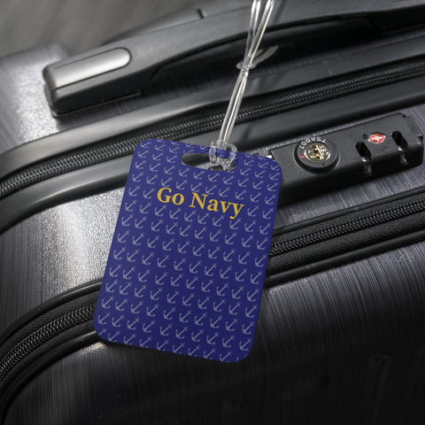 "Luggage Tag - ""GO NAVY"" Game Day Tag"
