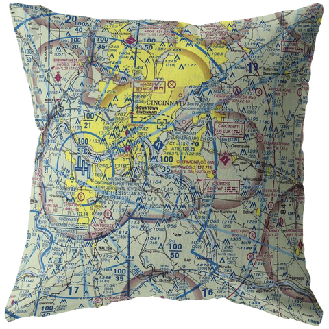 Throw Pillow |  Cincinnati, Ohio VFR Sectional