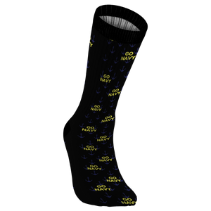 Go NAVY - Black Crew Length Socks
