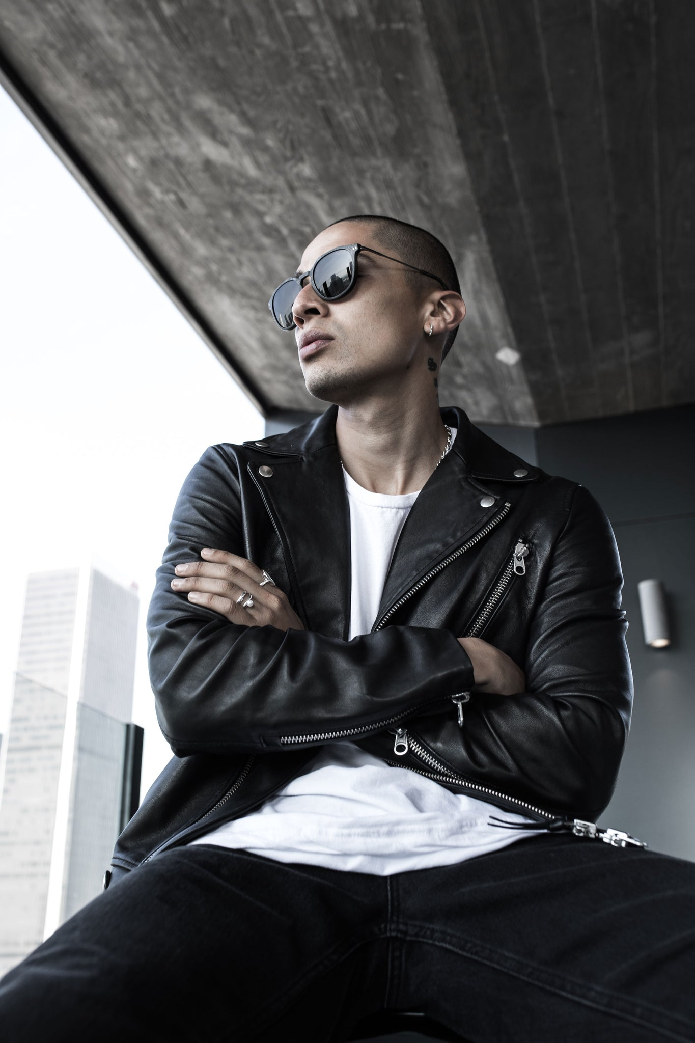 Alan x Roveri Eyewear at Atelier in downtown Los Angeles with Paid2shoot, latest photoshoot with CLM7 black on black.