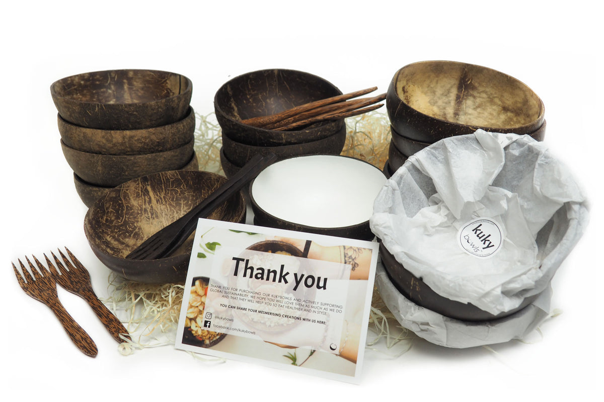 Kuky Bowls - UK Seller of Natural sustainable coconut bowls and wooden coconut spoons and forks