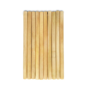 Natural eco-friendly BAMBOO STRAWS: SET OF 10 suitable for vegans