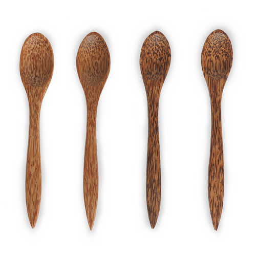 Natural eco-friendly KUKY SPOONS: SET OF 4 suitable for vegans