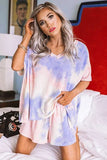 Multicolor Twist Tie Dye Pajamas Set
