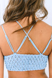 Sky Blue Lace Bralette with Lining