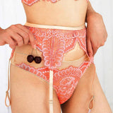 Scallop Garter with Thong Set