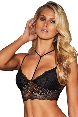 Black Strappy Lace Bralette