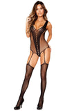 Black Midnight Desire Sheer Bodystocking