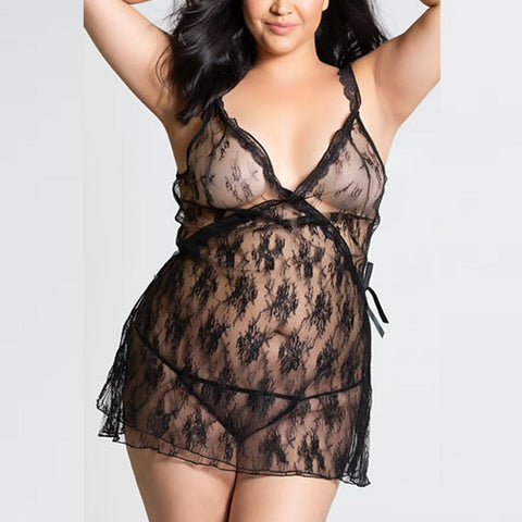 Lace nightwear (Plus-size)