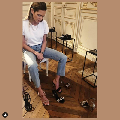 Helena Bordon with the Catena Shoes