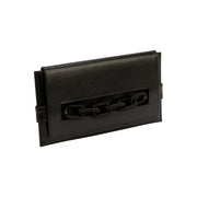 Catena Black Leather Envelope Clutch