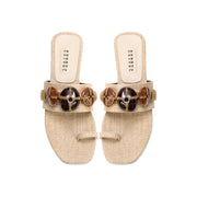 Delphine Natural & Almond Jute Toe Sandal