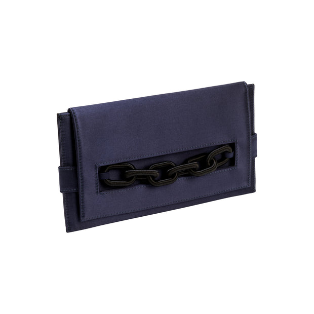Catena Navy & Black Envelope Clutch