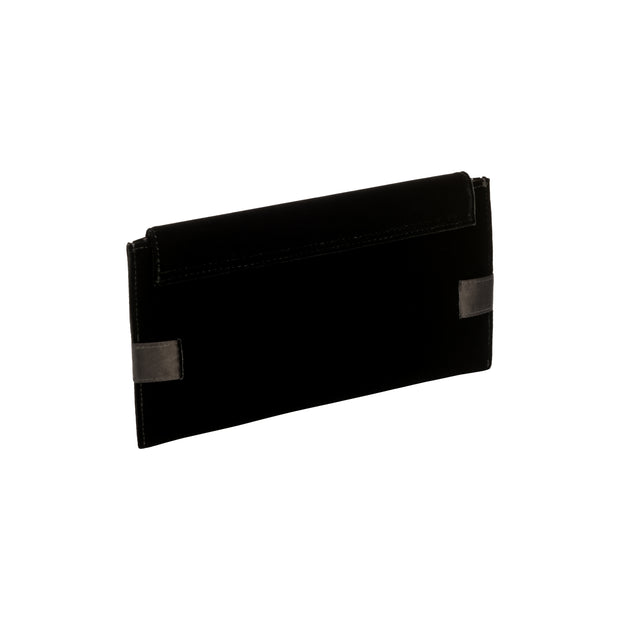 Catena Black Envelope Clutch