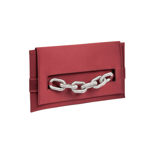 Catena Burgundy Envelope Clutch