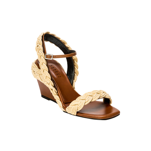 Isidora Tan & Natural Wedge Sandal