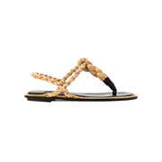 Thory Natural and Black Sandal