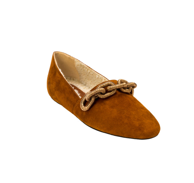 Catena Tan & Antique Gold Loafer
