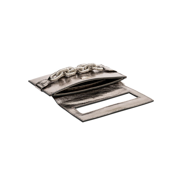Catena Small Envelope Clutch - Silver