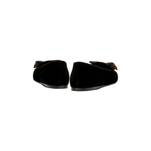 Fiocco Black Flat Moccasin