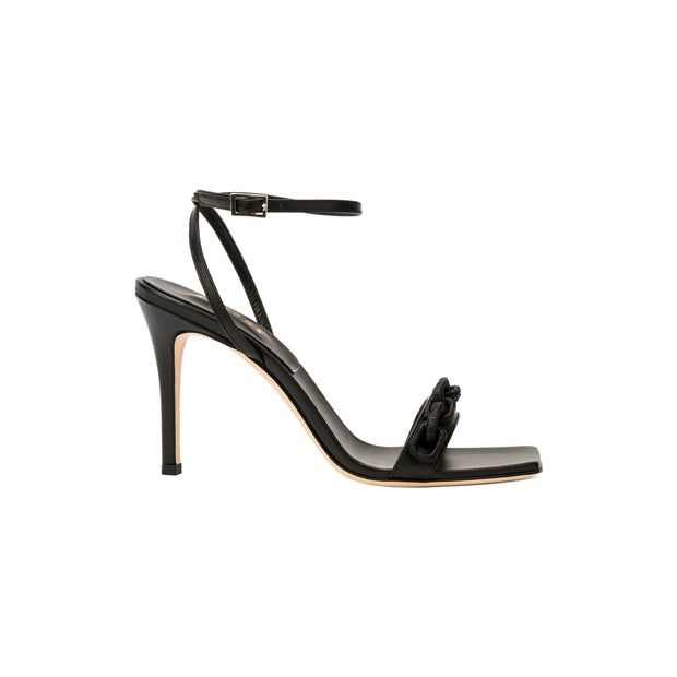 Catena Notte Black Ankle Cross High Sandal
