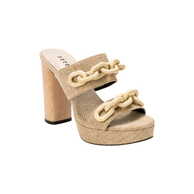 Catena Natural Platform Sandal
