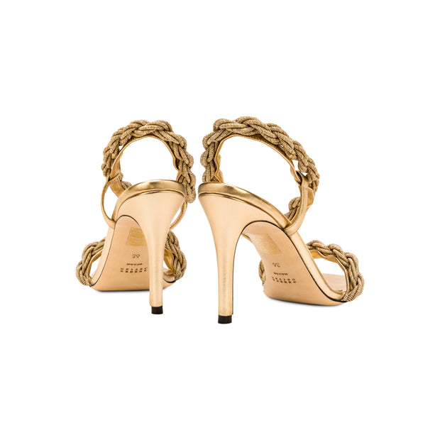 Roxana Gold High-Heel Sandal