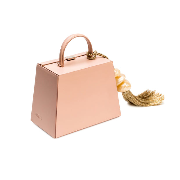 Perla Small Blush Accordion Bag