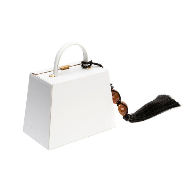 Melita Small Off-White Accordion Bag
