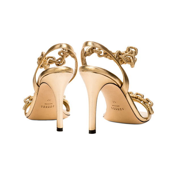 Catena Notte Gold High Heel Sandal
