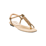 Iris Natural & Antique Gold Sandal