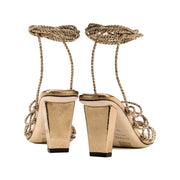 Ophilia Gold Lace-Up High Sandal