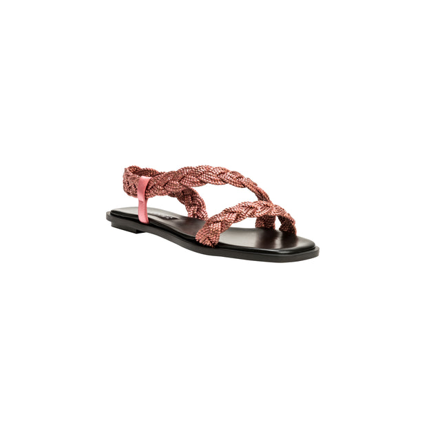Ronda Rose Pink and Black Sandal