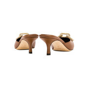 Catena Tan Mid-Heel Pump Mule