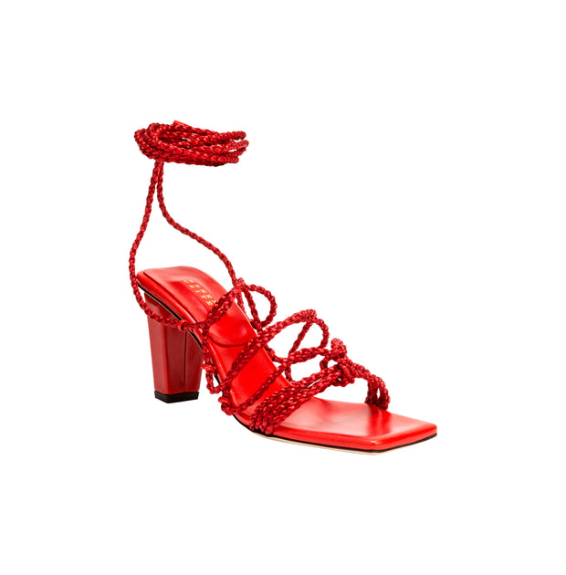 Ophilia Ruby Lace-Up High Sandal