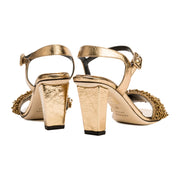 Gamila Gold High Sandal