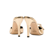 Catena Gold High Heel Pump Mules
