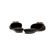 Catena Black Flat Slipper