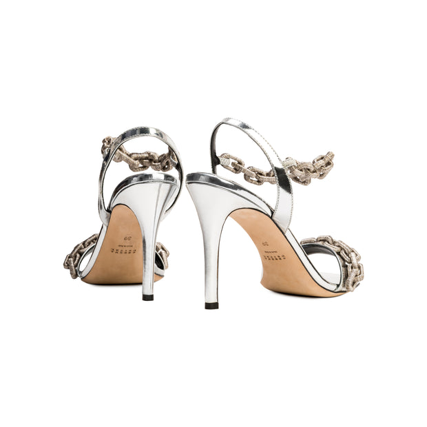 Catena Notte Silver High Sandal