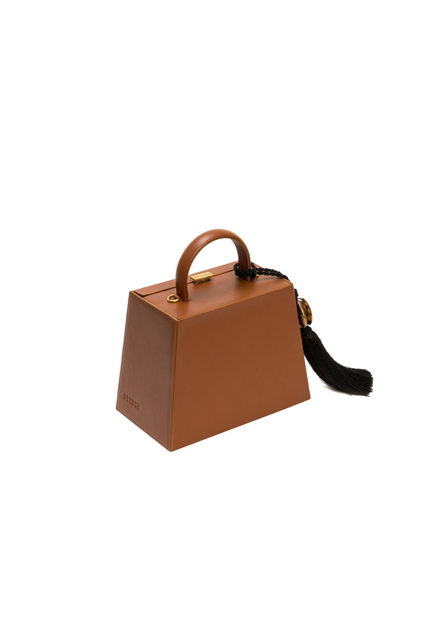 Accordion Tan Bag