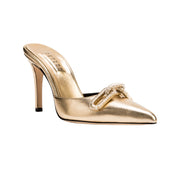Catena Gold High Heel Pump Mule