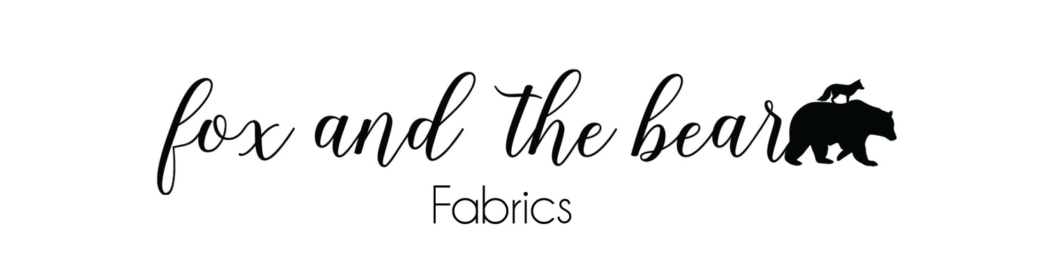 Fox and the bear fabrics