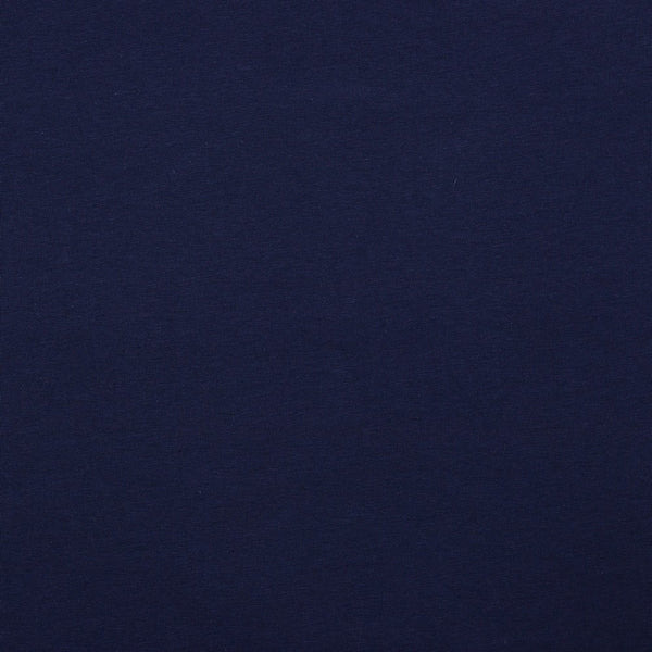 Navy Blue Cotton Solid Jersey