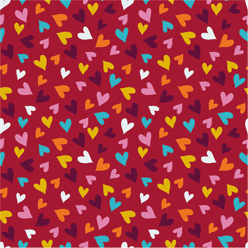 Sweet Heart Cotton Jersey - Red Wine