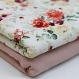 Floral Rose Print Cotton Jersey